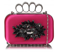 Psaníčko Fuchsia Women's Knuckle Rings Evening Bag