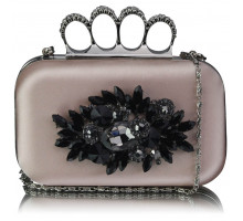Psaníčko Nude Women's Knuckle Rings Evening Bag