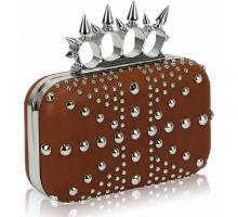 Psaníčko Brown Women's Studded Evening Bag