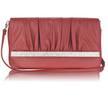 Psaníčko Burgundy Flapover Clutch Purse