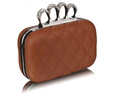 Psaníčko Brown Knuckle Clutch/Crossbody purse