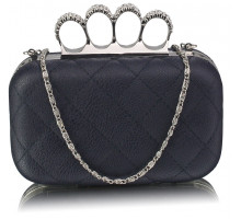 Psaníčko Navy Knuckle Clutch/Crossbody purse