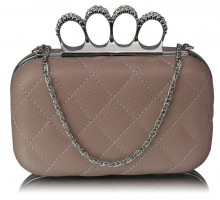 Psaníčko Nude  Knuckle Clutch/Crossbody purse