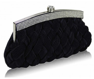 Psaníčka Navy Crystal Evening Clutch Bag