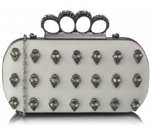 Psaníčko - Ivory Knuckle Rings Clutch Purse