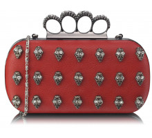 Psaníčko Red Knuckle Rings Clutch Purse