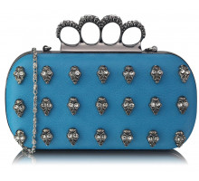 Psaníčko Teal Knuckle Rings Clutch Purse