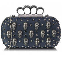 Psaníčko - Navy Knuckle Rings Clutch Purse