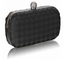 Psaníčko Gorgeous Black Hard Case Evening Bag - černé