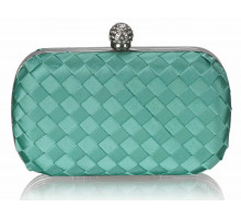 Psaníčko - Gorgeous Emerald Hard Case Evening Bag