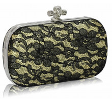 Psaníčko Classy Gold Ladies Lace Evening Clutch Bag