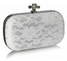 Psaníčko - Classy Ivory Ladies Lace Evening Clutch Bag