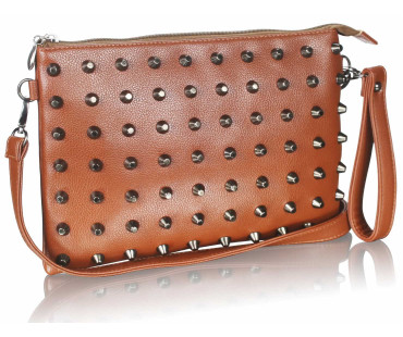 Psaníčko Brown Purse With  Stud Detail