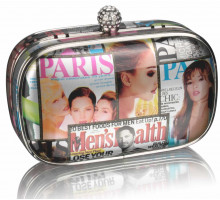 Psaníčko - Colour Silver Magzine Clutch Bag
