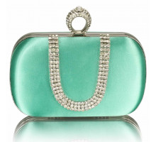 Psaníčko Emerald Sparkly Crystal Satin Clutch purse