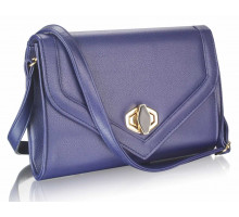 Psaníčko Navy Flapover Twist- Lock Clutch Purse