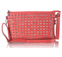 Psaníčko - Red Purse With  Stud Detail