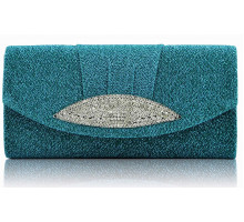 Psaníčko Emerald Diamante Evening Clutch Bag