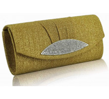 Psaníčko Gold Diamante Evening Clutch Bag