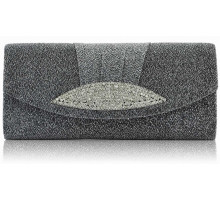 Psaníčko Grey Diamante Evening Clutch Bag