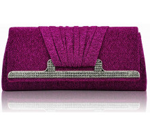 Psaníčko Fuchsia Diamante Evening Clutch Bag