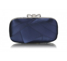 Psaníčko Navy Satin Clutch Evening Bag - modré