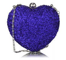 Kabelka Navy Glittery Hardcase Heart Clutch Bag