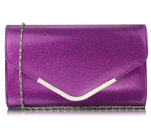 Psaníčko  Purple Large Flap Clutch purse - fialové