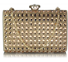 Psaníčko Gold Diamante Clutch purse