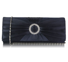 Psaníčko - Navy Sparkly Crystal Satin Evening Bag