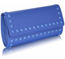 Psaníčko Blue Studded Clutch Evening Bag - modré