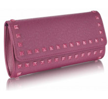 Psaníčko - Purple Studded Clutch Evening Bag