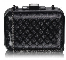 Psaníčko - Black Luxury Clutch Purse
