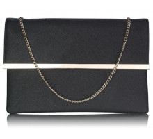 Psaníčko Black Large Flap Clutch purse