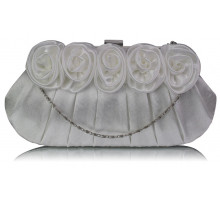 Psaníčko Ivory Flower Design Satin Evening Bag