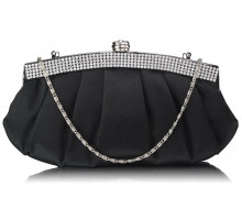 Psaníčko Black Diamante Evening Clutch Bag