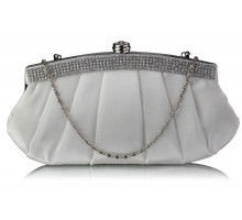 Psaníčko Ivory Diamante Evening Clutch Bag