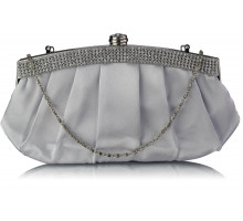 Psaníčko Silver Diamante Evening Clutch Bag