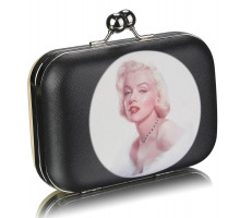 Psaníčko Marylin Monroe Beige Hard Case Clutch Bag