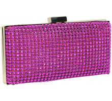 Psaníčko Pink Sparkly Diamante Evening Clutch - fialová