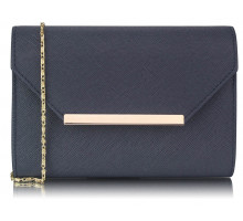 Psaníčko Navy Large Flap Clutch purse