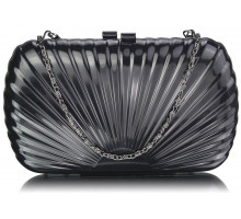 Psaníčko Black Hard Case Clutch Bag