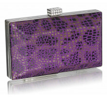 Psaníčko Purple Crystal Encrusted Clutch Bag