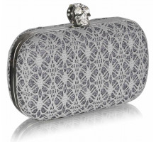 Psaníčko Grey Satin Evening Clutch Bag - šedé