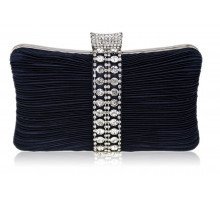 Psaníčko Gorgeous Navy Crystal Strip Clutch Evening Bag