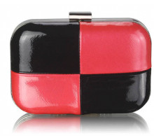 Psaníčko Black / Red  Hardcase Clutch Bag