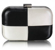 Psaníčko Black/White Hardcase Clutch Bag
