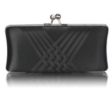 Psaníčko Black Satin Evening Clutch Bag - černé