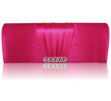 Psaníčko Blue Crystal  Satin Clutch purse