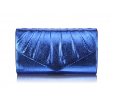 Psaníčko- Blue Metallic Clutch Bag - modré